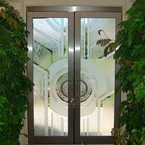 glue chip glass door