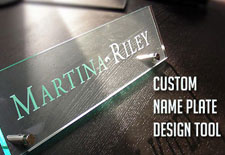 Glass Name plate Maker